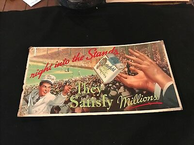 Chesterfield Cigarettes Vintage Advertisement CARBOARD BASEBALL ...RARE