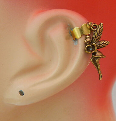 Fairy Ear Cuff Gold Charm Drop Dangle Handmade Jewelry Wrap Earring Fashion