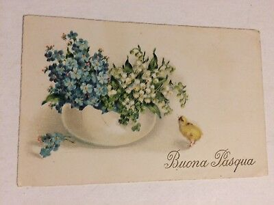 Vintage italy italian greetings postcard mother w baby bottle bath vintage postcard buona pasqua happy easter italy italian greetings m4hsunfo