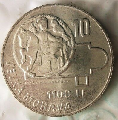 1966 CZECHOSLOVAKIA 10 KORUN - AU/UNC - Uncommon Silver Crown Coin - Lot #918