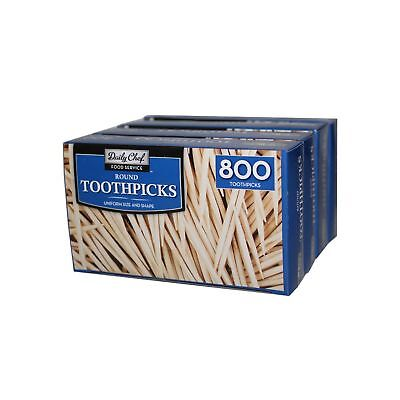 Daily Chef Round Toothpicks (4 boxes, 800 ct. each)