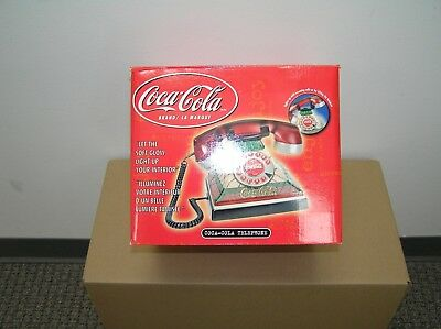 Coca-Cola Telephone Stained Glass Vintage