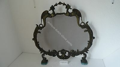 Antique Brass Baroque Fireplace Screen With Dragons
