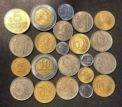 Old Uruguay Coin Lot - 1953-Present - 22 Great Coins - Lot #918