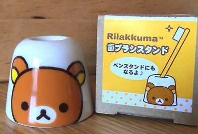 Rilakkuma Pen Stand & Toothbrush Holder Ceramic KAWAII New SAN-X Made in Japan