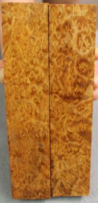 Asian Satinwood Burl Turning Blank, Cue Butt, Duck Call, Etc. 2 Pieces. (Mpb727)