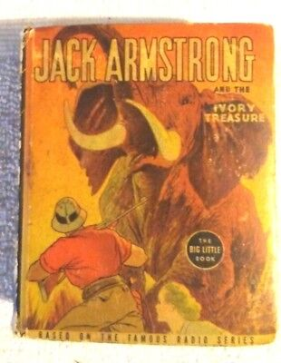 Rare Old Vintage Big Little Book Jack Armstrong And The Ivory Treasure 1937