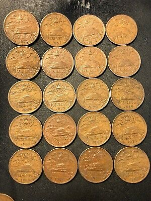Old Mexico Coin Lot - 20 CENTAVOS - 1944-1974 - 20 COINS - Lot #918
