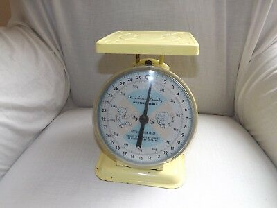 Vintage American Family Nursery Scale Yellow Baby Scale