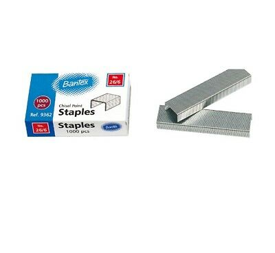 Bantex 26/6 Staples 1,000 Pack 9362-00