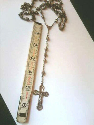 Beautiful Vintage Full Size Sterling Silver Filigree Rosary Beads