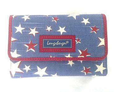 AMERICAN STARBURST Wallet Paprika Trim Longaberger New