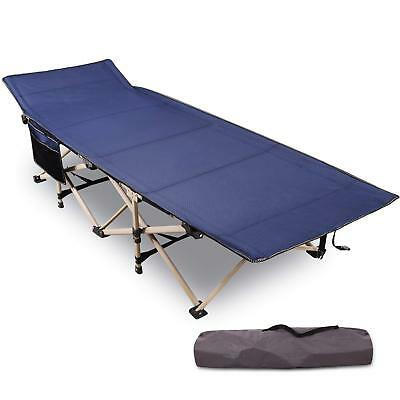 REDCAMP Folding Camping Cot for Adults,Portable Sleeping Cot Bed with Storage