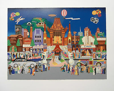"""Melanie Taylor Kent """"Hollywood Blvd"""" Hand Signed Limited Edition Serigraph"""