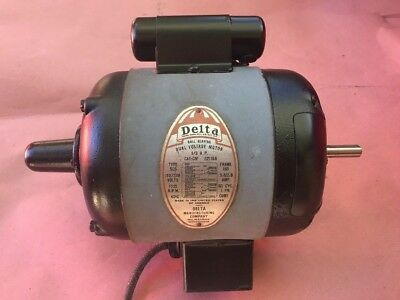 """Delta Rockwell 14"""" Band Saw Bandsaw Motor Dual 1/2"""" shaft 110//220 1725 RPM"""