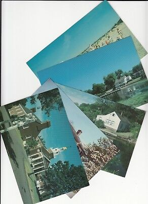 Lot of 5 Clinton CT Connecticut Vintage Era Postcards Middlesex County CONN