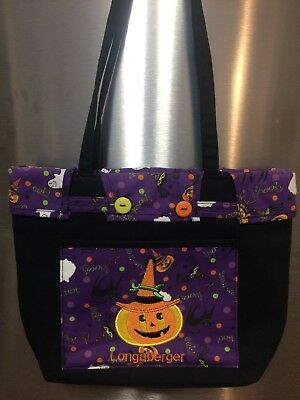 Longaberger Small Halloween Shopper Tote Purse Cute!