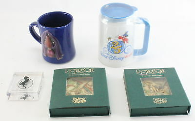 Lot of (5) Disney Mugs, Starlite Plaque & Picturesque Harmony Kingdom Tiles