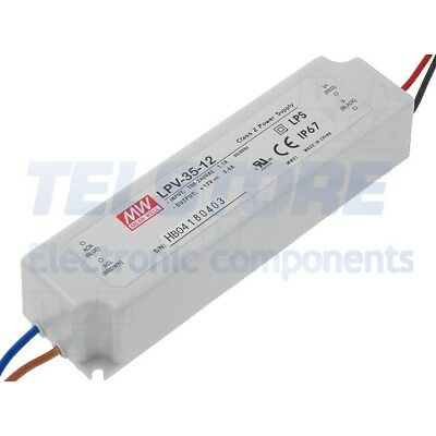1pcs LPV-35-12 Alimentatore switching per diodi LED 36W 12VDC 3A 90÷264VAC MEAN