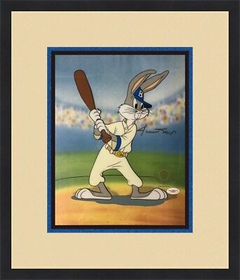 Willie Mays Signed Bugs Bunny  Animation Sericel Custom Framed FREE SHIP JSA COA