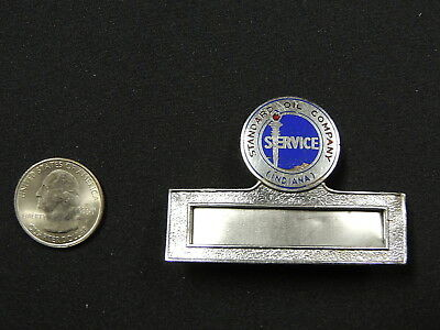 1930-40's STANDARD OIL CO of INDIANA Logo - NAME BADGE for Gas Station Attendant
