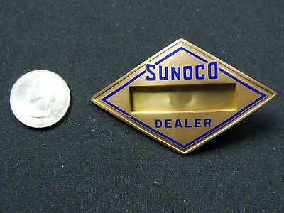 1930-40's SUNOCO OIL CO - Sun Oil Co Logo - NAME BADGE for Gas Station Attendant