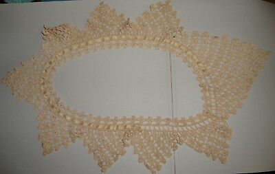 Antique Hand Crocheted Dress Collar Floral Pattern