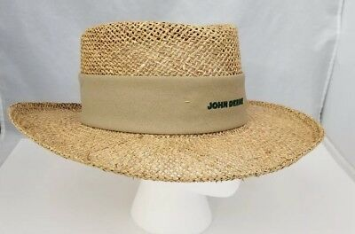 2015d9a70 JOHN DEERE STRAW Hat with Green Band - $26.39 | PicClick