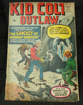 KID COLT OUTLAW #93  1960 Marvel Comics Ghost of Midnight Mountain! Dick Ayer VG
