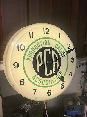 Vintage Production Credit Association PCA NPI Neon Clock Works Great