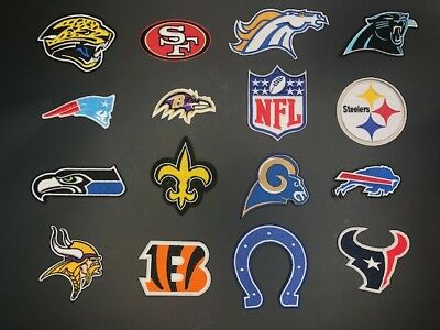 All NFL Football Team - Iron on Embroidered Clothing Patch !! US SELLER!!