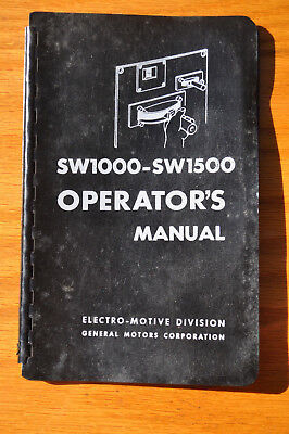 1969 emd electro motive sw1000 sw1500 locomotive operators manual rh picclick com SW1500 Locomotive Service Manual Relco Locomotives New Shop
