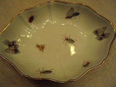 Limoges Collectible Dish Rare Insects Bugs Candy Soap Dish Butterflies Bees