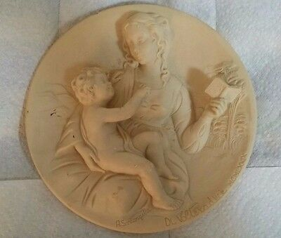 Madonna Serena, Solid Ivory Alabaster Collector Plate, 1979 Issue