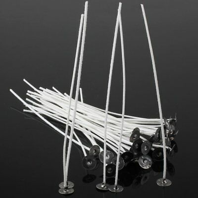 50pcs 6 Inch Candle Wicks  COTTON Core Candle Making Supplies Pretabbed US