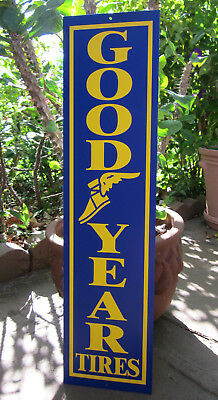 Goodyear Good Year Tires Metal Sign Gas Oil Racing Hot Rod Pro Street Garage