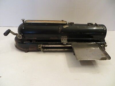 Antique Protectograph Check Writing Machine, G.W.T0dd & Co,1916, Gd Cond. 523142