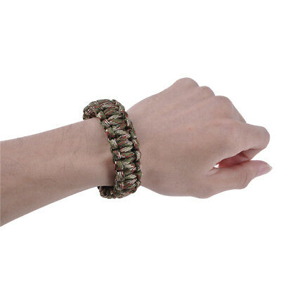 Military Camouflage Green Rope Bracelet Outdoors Emergency Survival Escape Tool