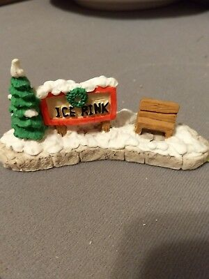 miniature Ice Ring sign for Snow Village. F30