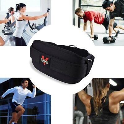 EVANylon Gym Weight Lifting Belt Waist Back Support Strap Power Training Fitness
