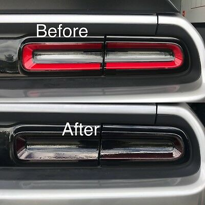 2015-2018 Dodge Challenger Tail Light Tint Cover Smoked Overlays