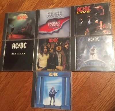 ACDC 7 CD Lot AC/DC Highway To Hell Back In Black Live Ballbreaker Who Made Who