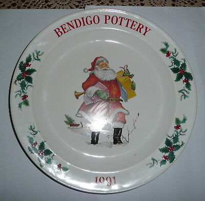 Bendigo Pottery 1991 Ceramic Christmas Plate
