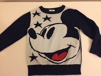 Mickey Mouse Knit Jumper Disney 3-4 Years Toddler Boys Girls