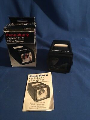 "Pana-vue 2 Lighted 2""x2"" Slide Viewer In Box"