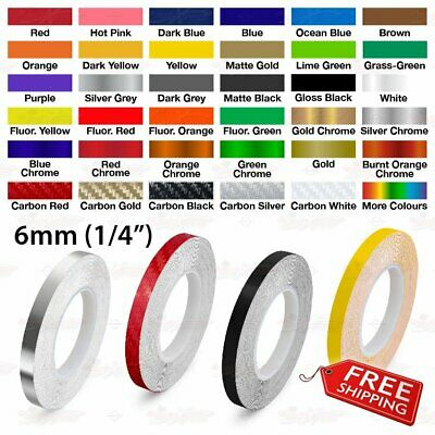 "6mm 1/4"" Roll PIN STRIPE Car Striping Trim Body Line TAPE Decal Vinyl Stickers"