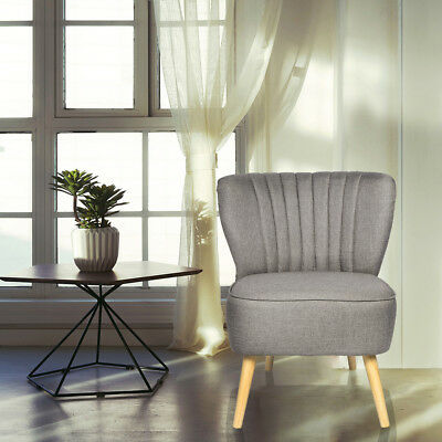 Bedroom Accent Fabric Chair Occasional Upholstered Modern Oyster Stool Armchair