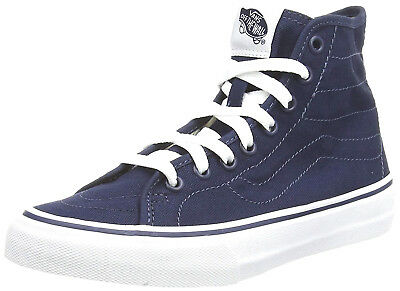 c6b38b595a VANS SK8-HI Decon Canvas Dress Blues True White Skate Shoes Women s Size 5.0