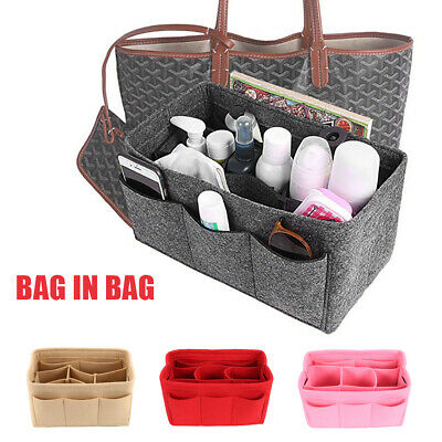 Women Organizer Handbag Felt Travel Bag Insert Liner Purse Organiser Pouch 1pcs