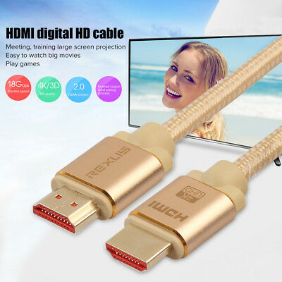 Luxury HDMI 2.0b 2160p 18Gbps 4k UHD TV Braided High Speed Cable with Ethernet